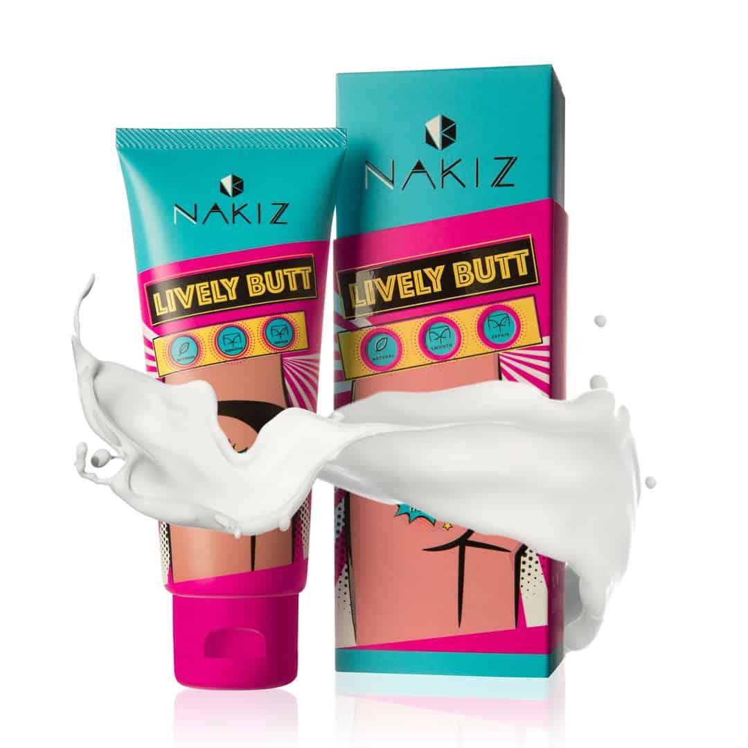 Nakiz Lively Butt 100g - Kem dưỡng ẩm và trị thâm vùng da mông